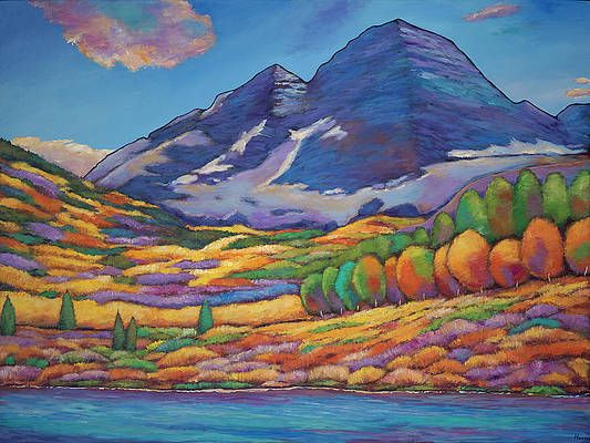 A Day In The Aspens By Johnathan Harris In 2020 Colorful Landscape Paintings Colorful Landscape Aspen Landscaping