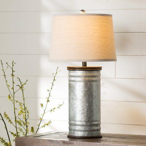 Harnois Steel Tin Can 28 Table Lamp Farmhouse Table Lamps