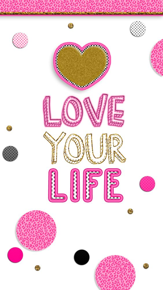 Super Cute Girly Quotes: FREE Adorable Phone Wallpapers! Pink, Black, And Gold