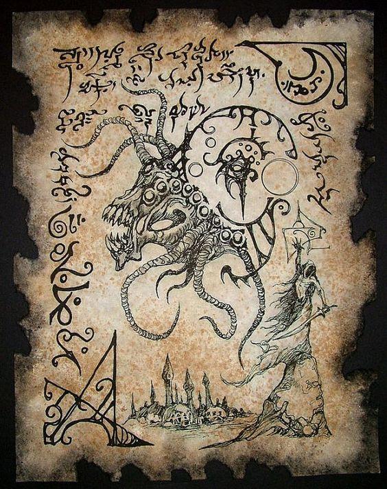 El Necronomicón,un libro salido de los infiernos 1dd6ad88e039a69a4bfa533c5be47ae7