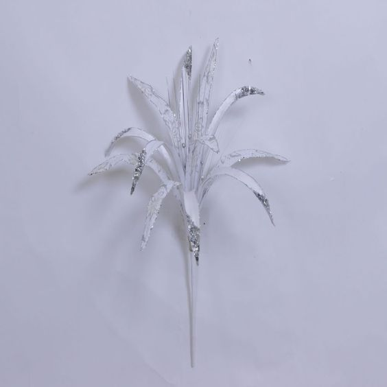 "36"""" White Papyrus 17"""" Flower"