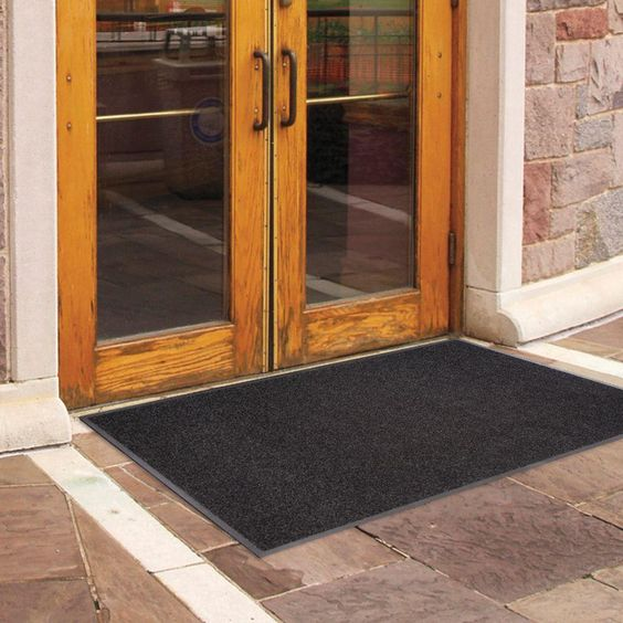 Trafficmaster Enviroback Charcoal 60 In X 36 In Recycled Rubber Thermoplastic Rib Door Mat 60 443 1902 30000500 The Home Depot Door Mat Outdoor Door Mat Recycled Rubber
