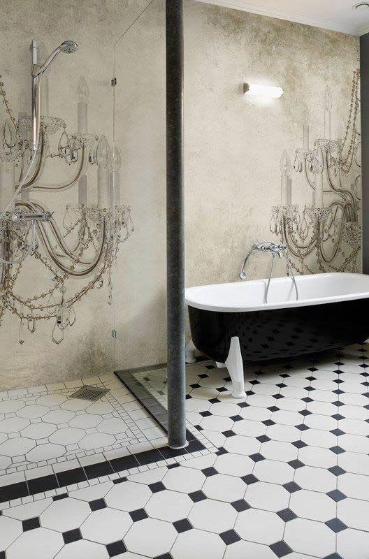 Wall Deco Tapeten Mit Bildern Badezimmer Tapete