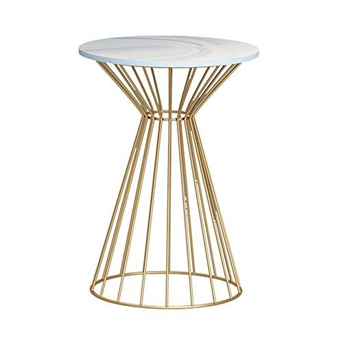Xiaoyan End Table Wrought Iron Side Table Coffee Table Marble