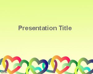 Celebrate Hearts Day Powerpoint Template ValentineS Day  Free