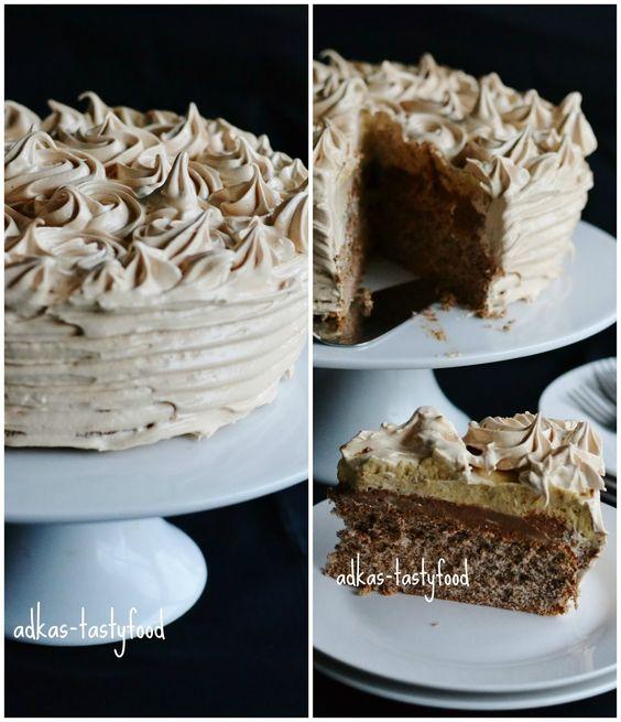 .. chute a vône mojej kuchyne...: Oriešková torta s karamelovou penou