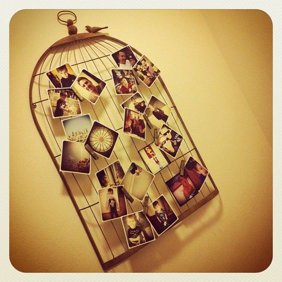 Birdcage used for pictures. Cute!