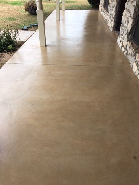 Antiquing Concrete Stain Paint Concrete Patio Concrete Stain Patio Outdoor Concrete Stain