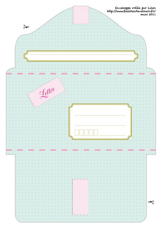 enveloppe imprimer pastel freebies diy enveloppes pinterest pastel enveloppes et bricolage. Black Bedroom Furniture Sets. Home Design Ideas