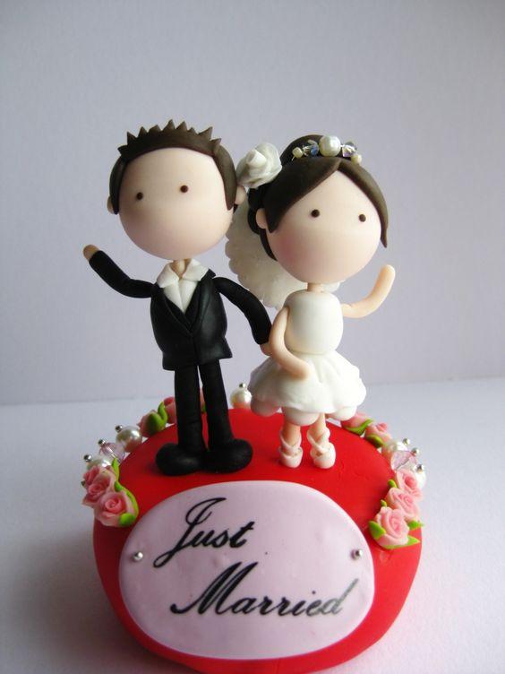 Wedding Clay Cake Topper Flower Decorative -