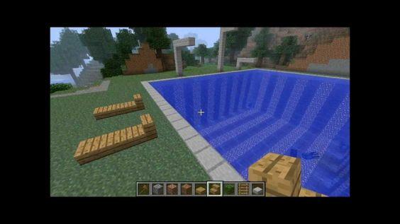 Minecraft einfaches Schwimmbad/Freibad bauen [HD]
