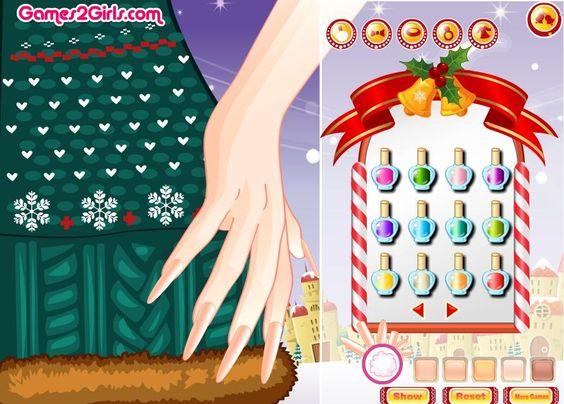 Długie, piękne paznokcie to fajna okazja, by pomalować je z ciekawy sposób. Świąteczne wzorki są idealnym pomysłem! http://www.ubieranki.eu/gry/3657/swiateczny-manicure.html