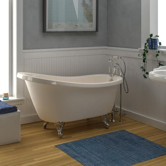 60 Attica Acrylic Slipper Clawfoot Tub Bisque With Images