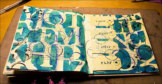 Art Journal Background - love this.