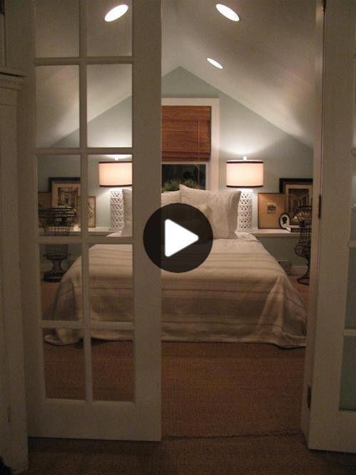 未完成の屋根裏スペース感の住みやすい作り Remodel Bedroom Attic