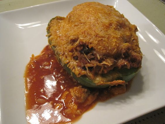 Mrs. Schwartz's Kitchen: Enchilada Style Stuffed Peppers