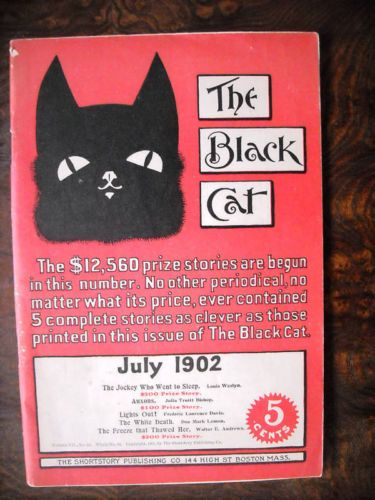 BLACK CAT PULP MAGAZINE,7-1902,FIVE STORIES Five stories. There are 68 pages…