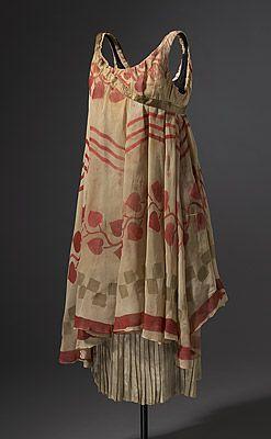 ¤ Costume for a nymph c.1912 Léon BAKST  designer Belarus (Russia) 1866 – France 1924  France from 1912 producer 1909 – 1929     silk chiffon, lamé, metallic ribbon, cotton  centre back 90.0 (h) cm.  NGA Canberra .