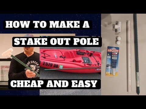 109 Diy Stake Out Pole Kayak Anchor Cheap And Easy Youtube In 2020 Kayak Anchor Kayaking Stakes