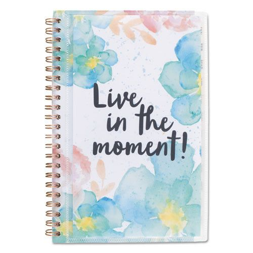 B-Positive Desk Weekly/monthly Planner, Live In The Moment, 5 3/8 X 8 1/8, 2017