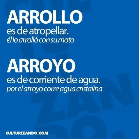 Arrollo/arroyo