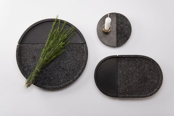 peca studio + ana saldana transform volcanic rock into lava plates