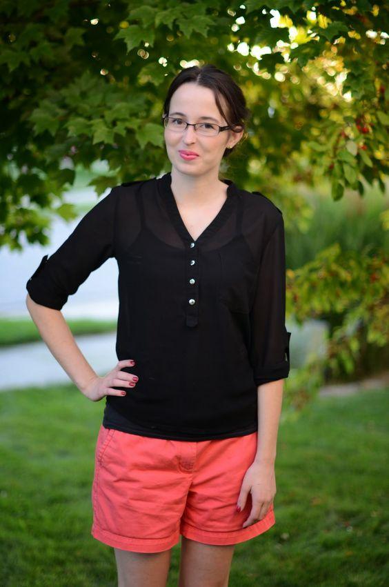 Bramblewood Fashion | Modest Fashion & Beauty Blog: What I Wore | Coral + Black