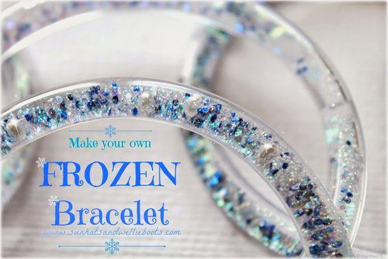 Sun Hats & Wellie Boots: DIY FROZEN Glitter Bracelets - That Turn To Ice!