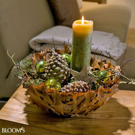 Advent im naturlook dekorieren mit zapfen und zweigen - Deko mit asten und zweigen ...