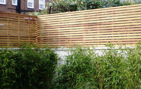 Contemporary Slatted Panels   Slatted Fence Panels   Essex UK, The Garden  Trellis Company