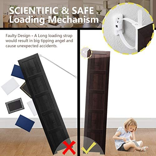 Furniture Straps 10 Pack Baby Proofing Anti Tip Furniture Anchors Kit Cabinet Wall Anchors In 2020 Furniture Anchors Furniture Straps Fall Furniture