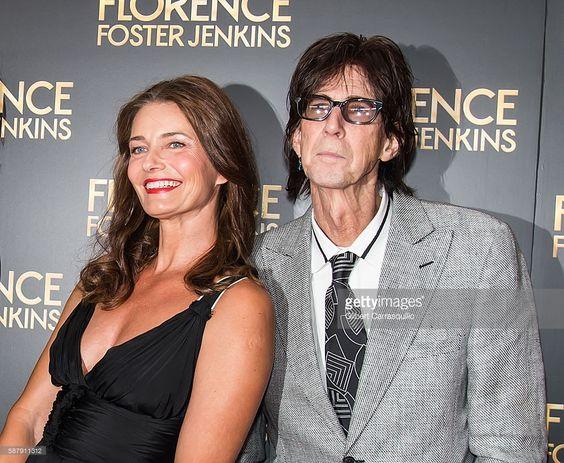 News Photo : Paulina Porizkova and Ric Ocasek attend the...