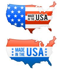 Made in the USA United States Map buttons set vector art illustration