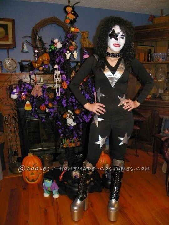 cool homemade kiss starchild female costume halloween costume contest