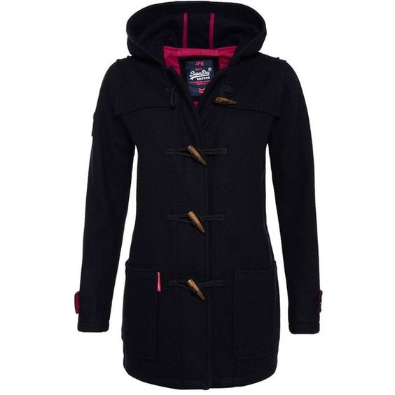 Superdry Rookie Duffle Coat (190 CAD) ❤ liked on Polyvore