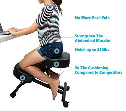 Sleekform Ergonomic Kneeling Chair Adjustable Stool For Home And