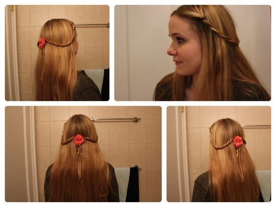 """""""GOT Hair Ideas: Margery Tyrell's Rope Twist Braids."""" - Cute and oh-so-simple."""