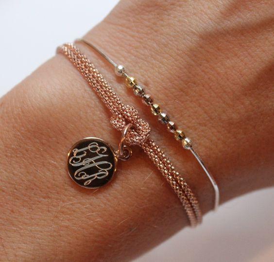 Square Knot Bracelet in Rose Gold