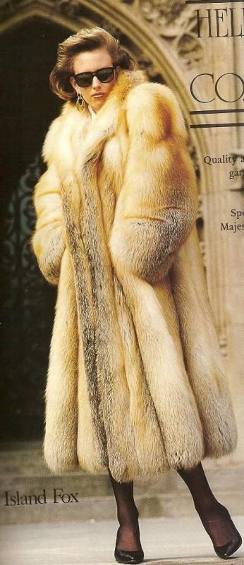 Really Big Red Fox Fur Coat A Fashion Passion to the Fur World