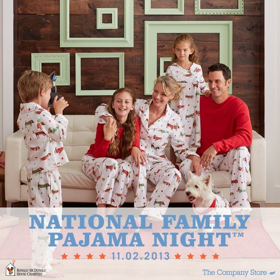 Since 1974, Ronald McDonald House Charities have made children happier and healthier by keeping families together – giving them a place to rest and refresh. On November 2nd, join The Company Store and Ronald McDonald Houses around the country for National Family Pajama Night—a time for families everywhere to share hugs, laughter and lots of love! #pjnight See how you can get involved here: http://www.thecompanystore.com/pjnight