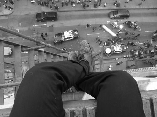 A pretty interesting picture that the photographer/suicide jumper took right before he jumped off... Inspired me so much that I ended up writing a song about it!