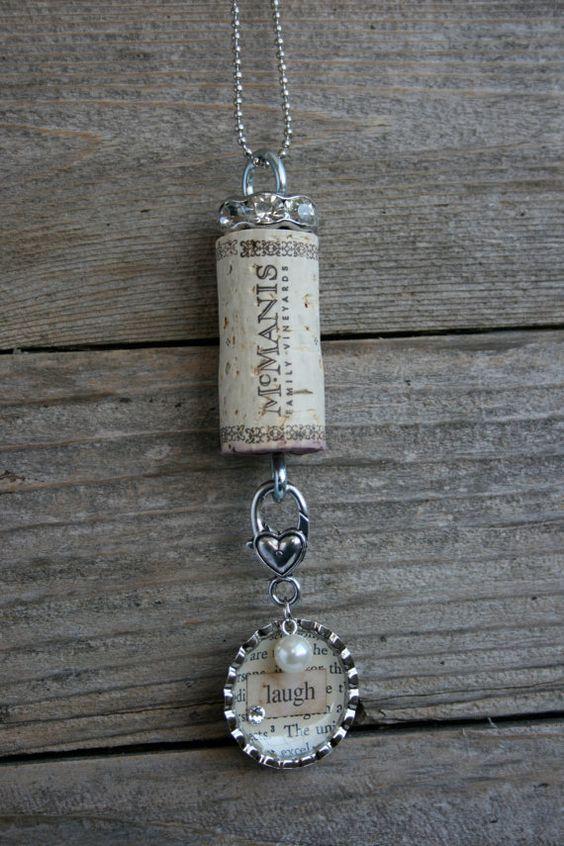 Cork Necklace Wine Corks And Corks On Pinterest