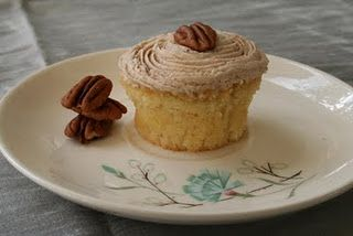 "Pecan Butter Frosting on ""Butter"" Cupcake 