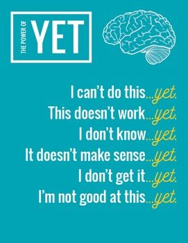 "Growth Mindset ""The Power of Yet"" High Resolution Printable Poster"