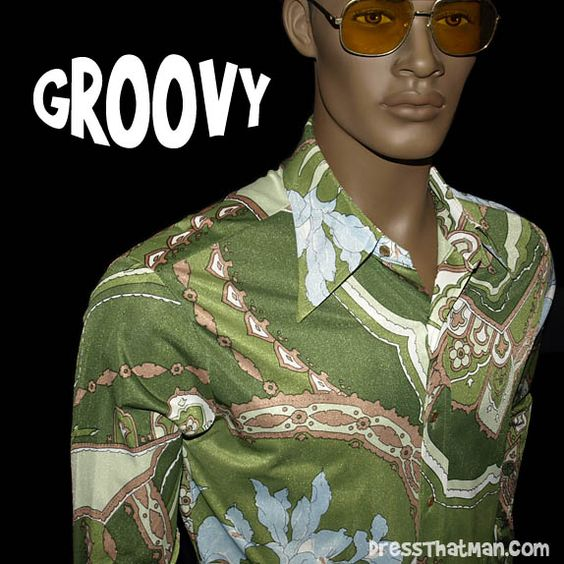 Groovy Vintage 70's Mens Disco Shirt