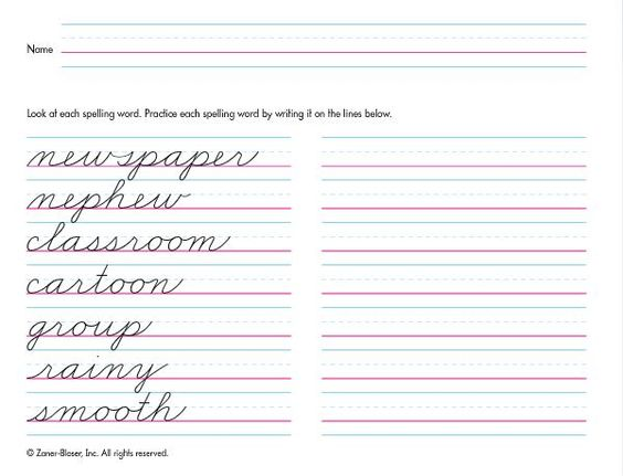 Printables Zaner Bloser Cursive Worksheets handwriting worksheets and make your own on pinterest 1de0e8bcfcf0f5f8791331f3b039ea3f jpg