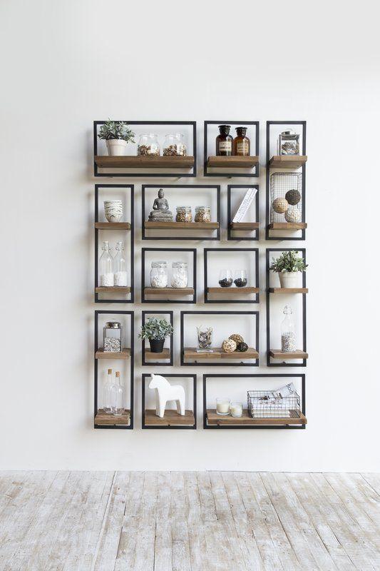 Langridge Metal Frame Wall Shelf With