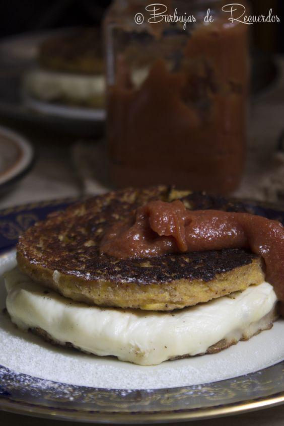 Cachapas de Platano Maduro en Budare   Ripe Plantain Pancakes