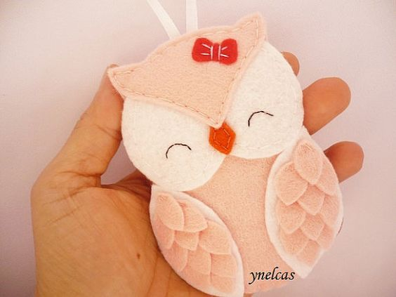 Felt Christmas Ornament Owl Christmas Ornament for baby by ynelcas