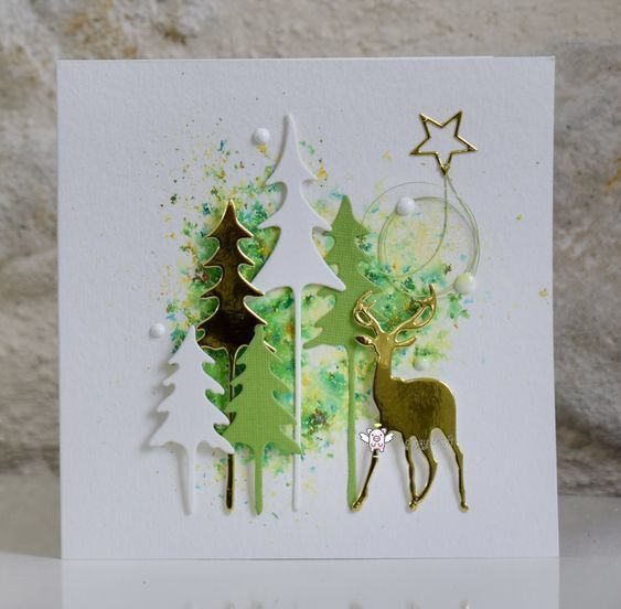 Metal cutting dies cut die mold Christmas forest Scrapbook mould punch stencils